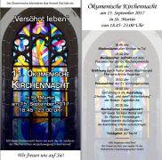 Flyer oekumenische Kirchennacht 2017