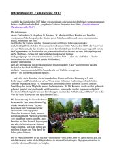 Bericht Familienfest 2017