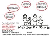 Plakat Termine Kinderkirche