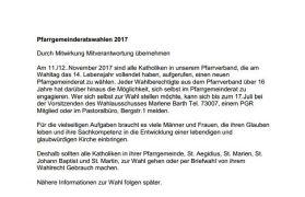 Ankündigung der PGR-Wahlen 2017