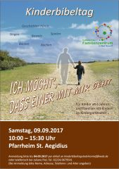 Plakat Kinderbibeltag 2017